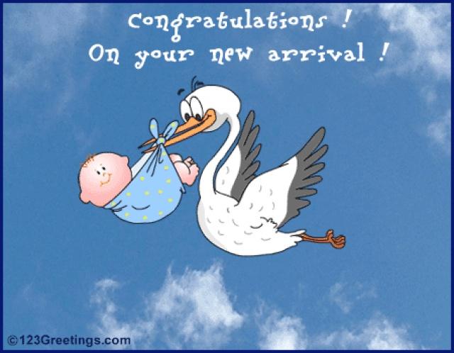 Прикольной поздравление с рождением малыша
